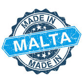 Made in Malta vintage stamp isolated on white background — Stok Vektör