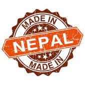 Made in Nepal vintage stamp isolated on white background — Vector de stock