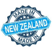 Made in New Zealand vintage stamp isolated on white background — Stok Vektör