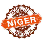 Made in Niger vintage stamp isolated on white background — Stok Vektör