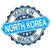 Made in North Korea vintage stamp isolated on white background — Vector de stock