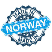 Made in Norway vintage stamp isolated on white background — Stok Vektör