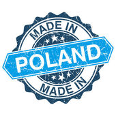 Made in Poland vintage stamp isolated on white background — Stok Vektör