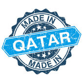 Made in Qatar vintage stamp isolated on white background — Wektor stockowy