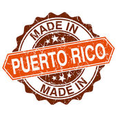 Made in Puerto Rico vintage stamp isolated on white background — Stok Vektör
