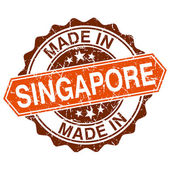 Made in Singapore vintage stamp isolated on white background — Stock Vector