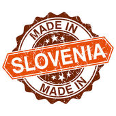 Made in Slovenia vintage stamp isolated on white background — Vettoriale Stock