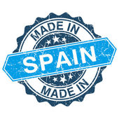 Made in Spain vintage stamp isolated on white background — Vector de stock