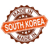 Made in South Korea vintage stamp isolated on white background — Vector de stock