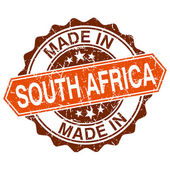 Made in South Africa vintage stamp isolated on white background — Vector de stock