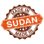 Made in Sudan vintage stamp isolated on white background — Stock Vector