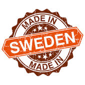Made in Sweden vintage stamp isolated on white background — Vetorial Stock