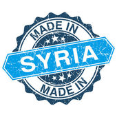 Made in Syria vintage stamp isolated on white background — Vector de stock