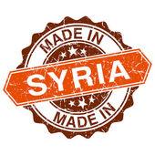 W Syrii vintage pieczęć na białym tle — Wektor stockowy