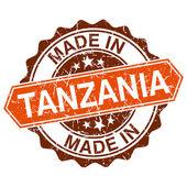 Tanzanya vintage damga izole beyaz zemin üzerine yapılan — Stok Vektör