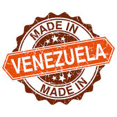 Gemaakt in venezuela vintage stempel geïsoleerd op witte achtergrond — Stockvector