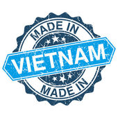 Made in Vietnam vintage stamp isolated on white background — 图库矢量图片
