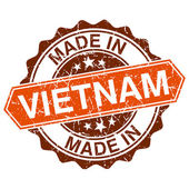 Made in Vietnam vintage stamp isolated on white background — Stock Vector