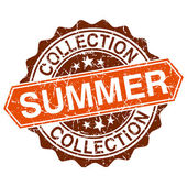 Summer collection grungy stamp isolated on white background — Vector de stock