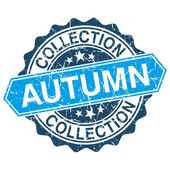 Autumn collection grungy stamp isolated on white background — Vector de stock