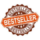 Bestseller grungy stämpel isolerad på vit bakgrund — Stockvektor