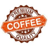 Kaffee grunge stempel isoliert auf weißem hintergrund — Stockvektor