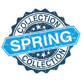 Spring collection grungy stamp isolated on white background — Vector de stock