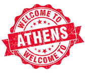 Welcome to Athens red vintage isolated seal — Stock Photo