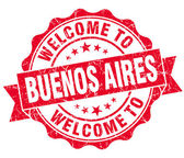 Welcome to Buenos Aires red vintage isolated seal — Stock Photo