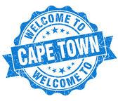 Willkommen Sie in Kapstadt blau Vintage isoliert Siegel — Stockfoto