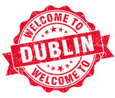 Welcome to Dublin red vintage isolated seal — Stock Photo