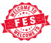 Welcome to Fes red vintage isolated seal — Foto de Stock