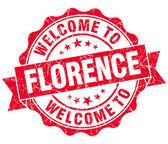 Floransa kırmızı vintage izole mühür Hoşgeldiniz — Stok fotoğraf