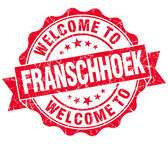 Welcome to Franschhoek red vintage isolated seal — 图库照片