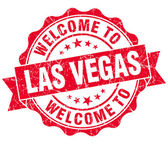 Welcome to Las Vegas red vintage isolated seal — Stock Photo