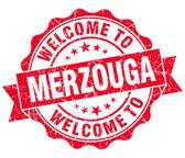 Benvenuti a merzouga rosso d'epoca tenuta isolata — Foto Stock