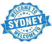 Sydney mavi vintage izole mühür Hoşgeldiniz — Stockfoto