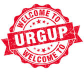 Welcome to Urgup red vintage isolated seal — Stock Photo
