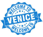 Welcome to Venice blue vintage isolated seal — Stock Photo