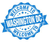 Welcome to Washington DC blue vintage isolated seal — Zdjęcie stockowe