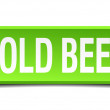 Cold beer green 3d realistic square isolated button — Stock Vector #50714035