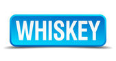 Whiskey blue 3d realistic square isolated button — Stockvektor