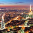 Panoramic view of the Paris — Stock Photo