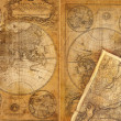 Stock Photo: Old texture of map