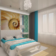 Stock Photo: Bedroom with shell