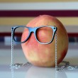 Peach in glasses — Stock Photo