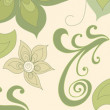Green flowers and plants on a beige background — Stock Photo
