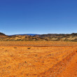 Panoramic view of the road in the desert — Stock Photo