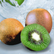 Kiwi fruit in the water — Stock Photo