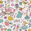 ストックベクタ: Nice romantic seamless pattern